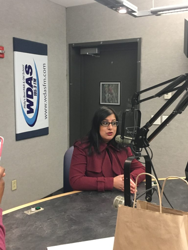 Dr. Rubina at WDAS FM with Ms. Patty Jackson
